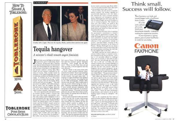 Article Preview: Tequila hangover, March 1990 | Maclean's