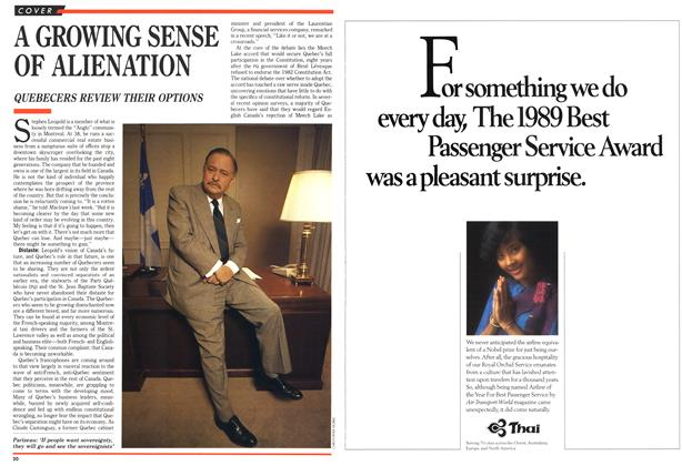 Article Preview: A GROWING SENSE OF ALIENATION, March 1990 | Maclean's
