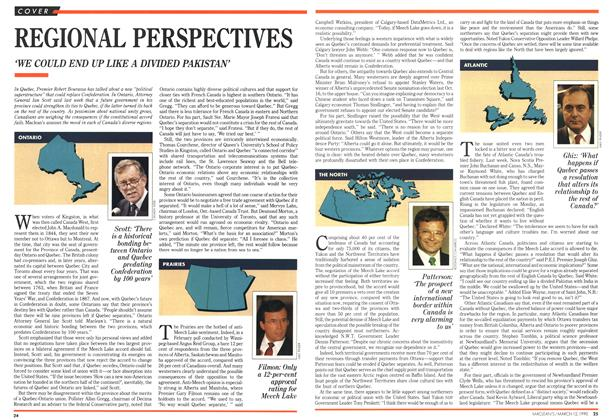 Article Preview: REGIONAL PERSPECTIVES, March 1990 | Maclean's