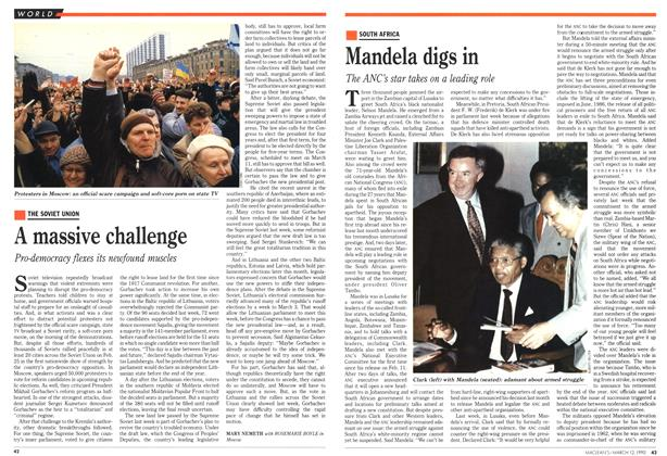 Article Preview: A massive challenge, March 1990 | Maclean's