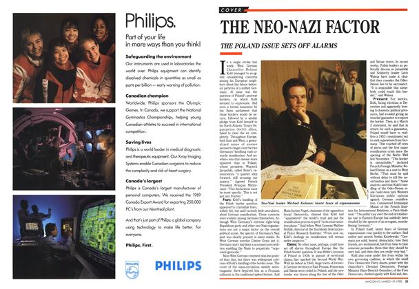 Article Preview: THE NEO-NAZI FACTOR, March 1990 | Maclean's