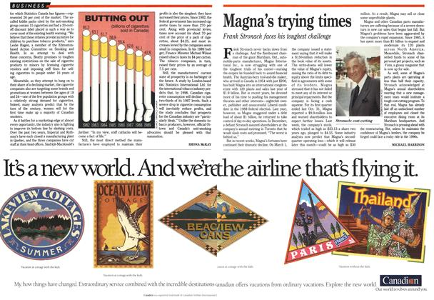 Article Preview: Magna's trying times, March 1990 | Maclean's