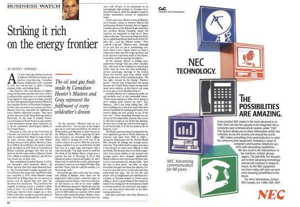 Article Preview: Striking it rich on the energy frontier, March 1990 | Maclean's