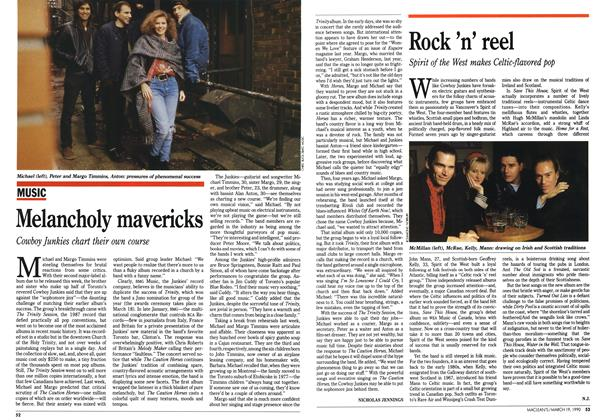 Article Preview: Melancholy mavericks, March 1990 | Maclean's