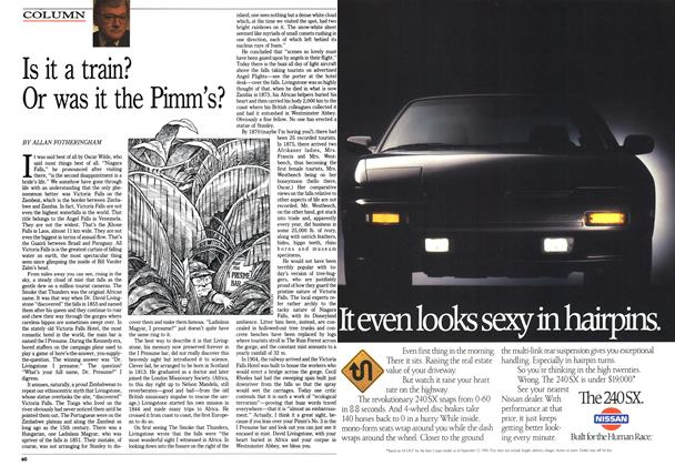 Article Preview: Is it a train? Or was it the Pimm's?, March 1990 | Maclean's
