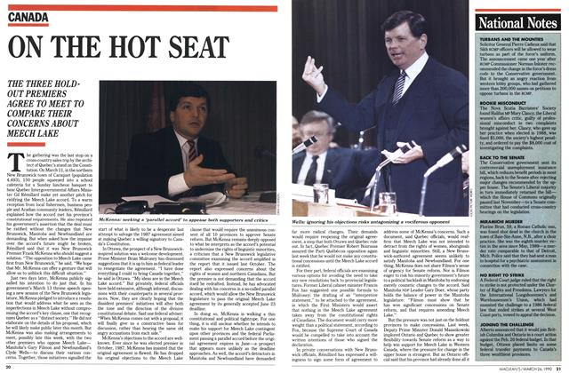 Article Preview: ON THE HOT SEAT, March 1990 | Maclean's