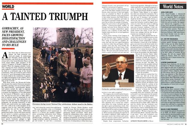 Article Preview: A TAINTED TRIUMPH, March 1990 | Maclean's