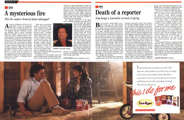 Article Preview: Death of a reporter, March 1990 | Maclean's