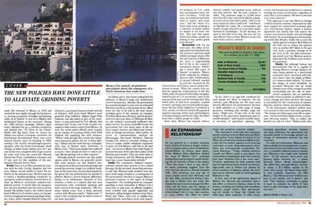 Article Preview: AN EXPANDING RELATIONSHIP, March 1990 | Maclean's