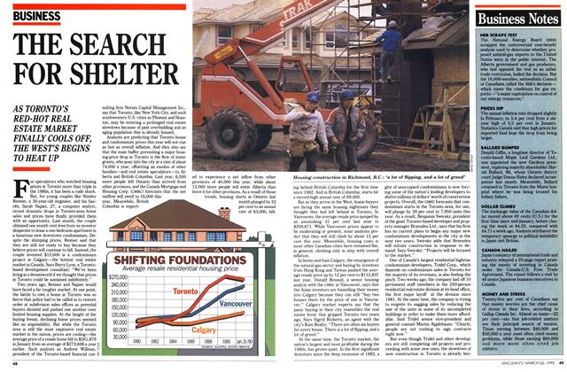 Article Preview: THE SEARCH FOR SHELTER, March 1990 | Maclean's