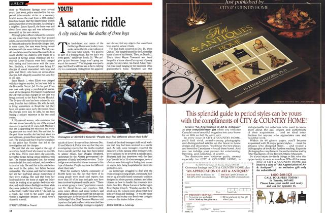 Article Preview: A satanic riddle, March 1990   Maclean's