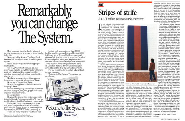 Article Preview: Stripes of strife, March 1990 | Maclean's