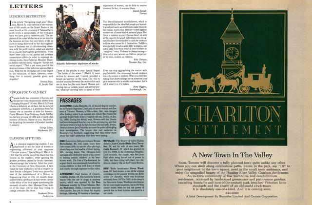 Article Preview: LETTERS, March 1990 | Maclean's