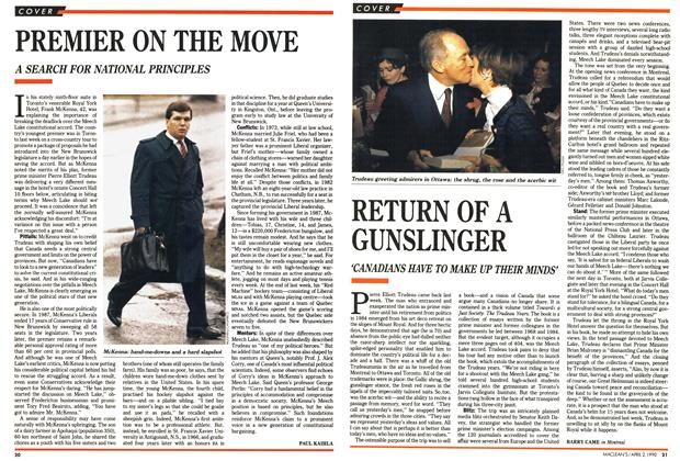 Article Preview: RETURN OF A GUNSLINGER, April 1990 | Maclean's