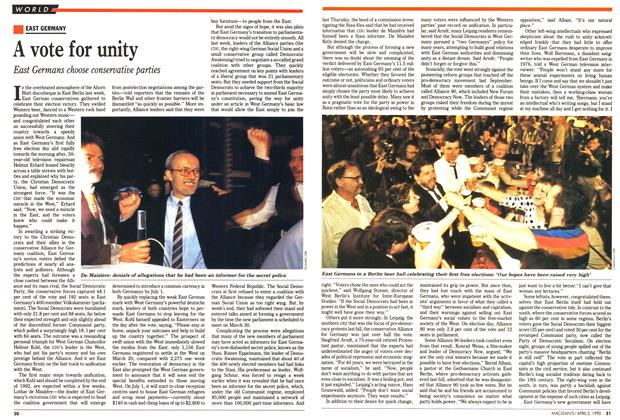 Article Preview: A vote for unity, April 1990 | Maclean's