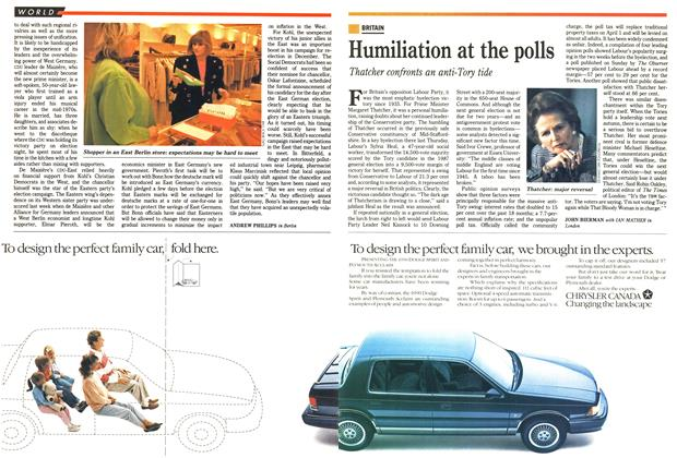 Article Preview: Humiliation at the polls, April 1990   Maclean's