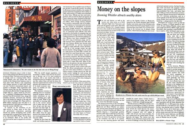 Article Preview: Money on the slopes, April 1990 | Maclean's