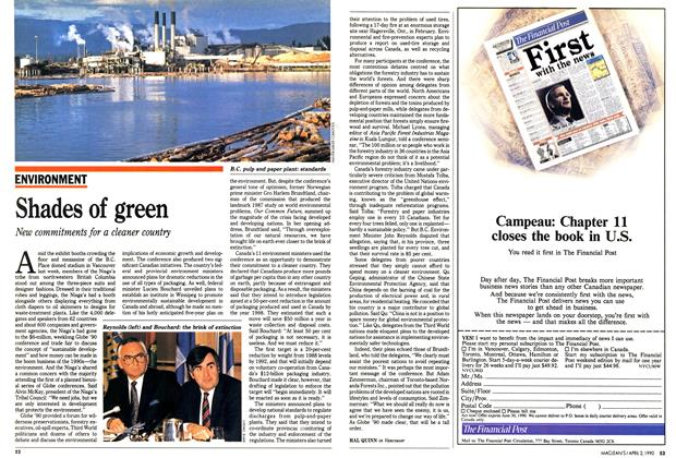 Article Preview: Shades of green, April 1990 | Maclean's