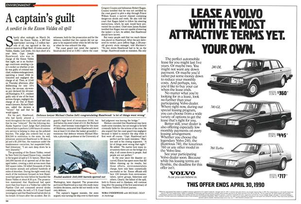 Article Preview: A captain's guilt, April 1990 | Maclean's