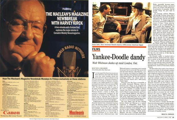 Article Preview: Yankee-Doodle dandy, April 1990 | Maclean's