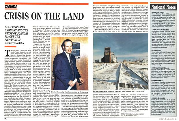 Article Preview: CRISIS ON THE LAND, April 1990 | Maclean's