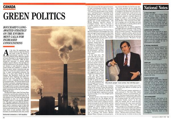 Article Preview: GREEN POLITICS, April 1990 | Maclean's