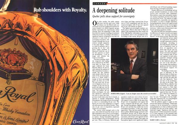 Article Preview: A deepening solitude, April 1990 | Maclean's