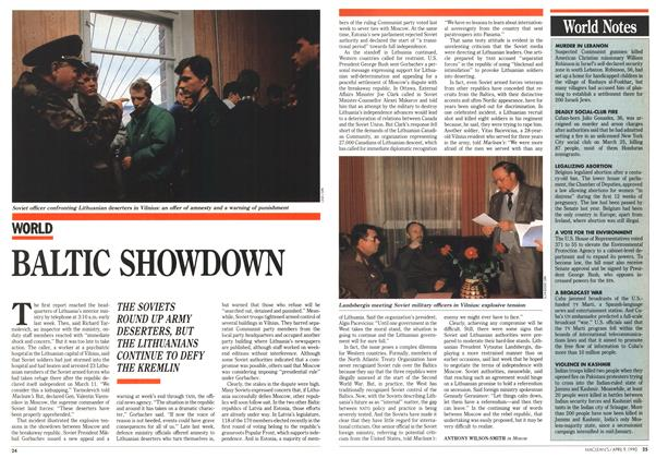 Article Preview: BALTIC SHOWDOWN, April 1990 | Maclean's