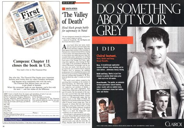 Article Preview: 'The Valley of Death', April 1990 | Maclean's