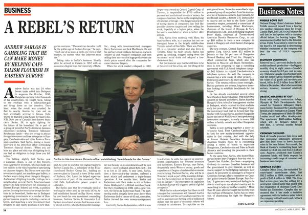 Article Preview: A REBEL'S RETURN, April 1990 | Maclean's