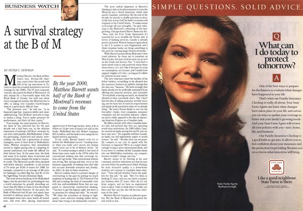 Article Preview: A survival strategy at the B of M, April 1990 | Maclean's