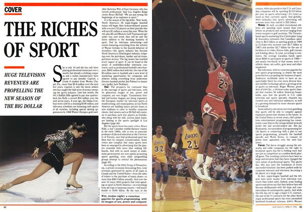 Article Preview: THE RICHES OF SPORT, April 1990 | Maclean's