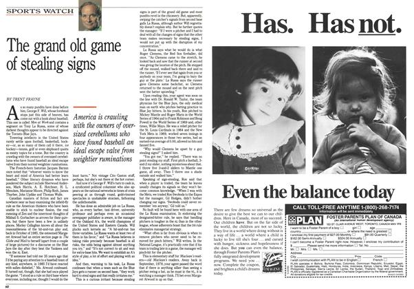 Article Preview: The grand old game of stealing signs, April 1990 | Maclean's