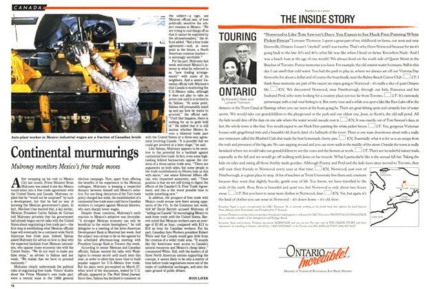 Article Preview: Continental murmurings, April 1990 | Maclean's