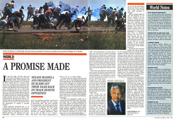 Article Preview: A PROMISE MADE, April 1990 | Maclean's