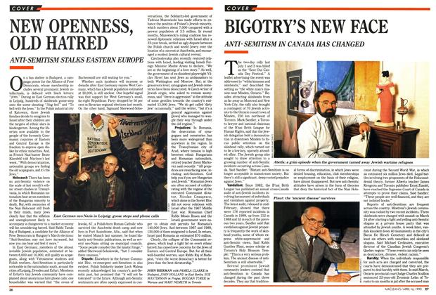 Article Preview: BIGOTRY'S NEW FACE, April 1990 | Maclean's