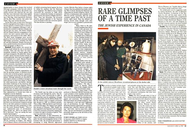 Article Preview: RARE GLIMPSES OF A TIME PAST, April 1990 | Maclean's