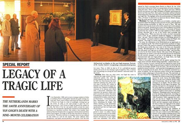 Article Preview: LEGACY OF A TRAGIC LIFE, April 1990 | Maclean's