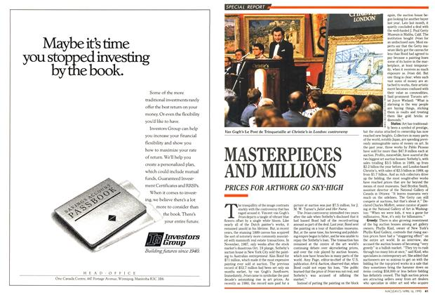 Article Preview: MASTERPIECES AND MILLIONS, April 1990 | Maclean's