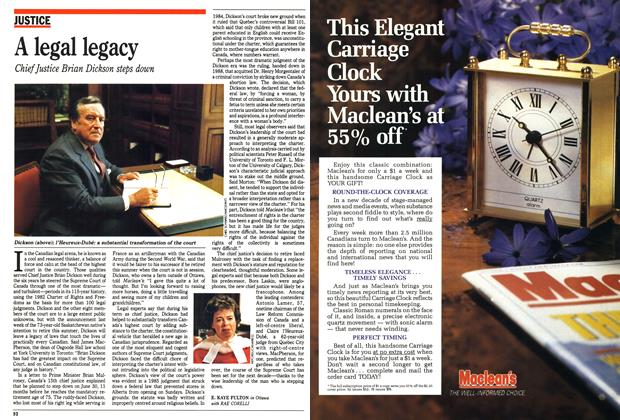 Article Preview: A legal legacy, April 1990 | Maclean's