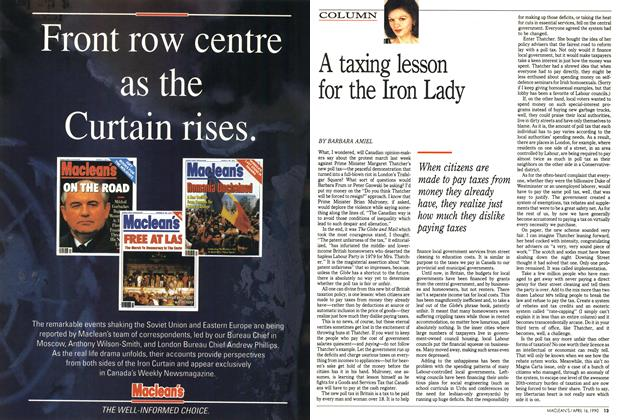 Article Preview: A taxing lesson for the Iron Lady, April 1990 | Maclean's