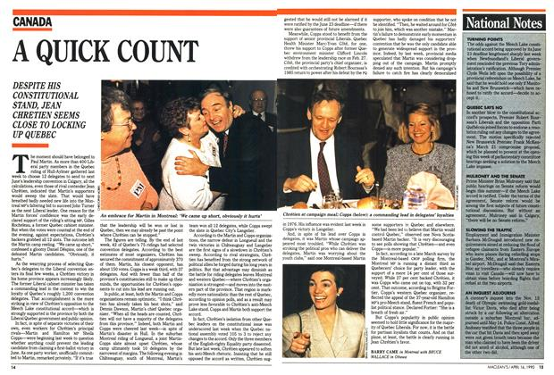 Article Preview: A QUICK COUNT, April 1990 | Maclean's