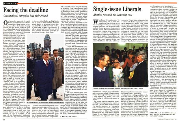 Article Preview: Single-issue Liberals, April 1990 | Maclean's