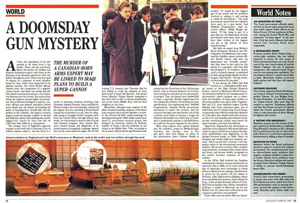 Article Preview: A DOOMSDAY GUN MYSTERY, April 1990 | Maclean's