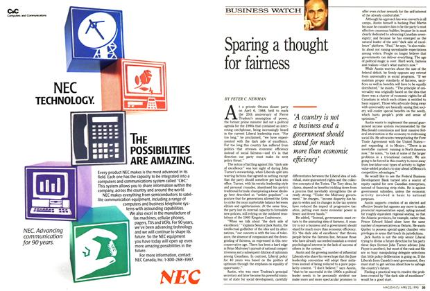 Article Preview: Sparing a thought for fairness, April 1990 | Maclean's