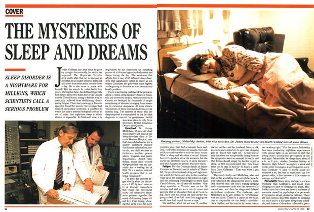 Article Preview: THE MYSTERIES OF SLEEP AND DREAMS, April 1990 | Maclean's