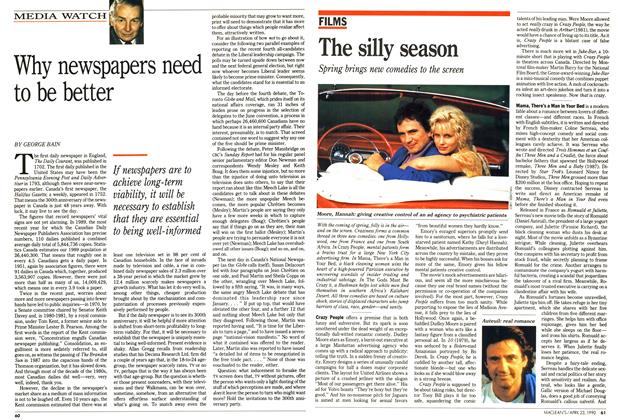 Article Preview: Why newspapers need to be better, April 1990 | Maclean's