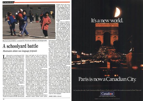 Article Preview: A schoolyard battle, April 1990 | Maclean's