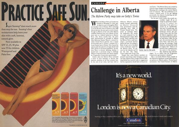 Article Preview: Challenge in Alberta, April 1990 | Maclean's