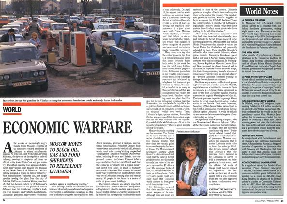 Article Preview: ECONOMIC WARFARE, April 1990 | Maclean's